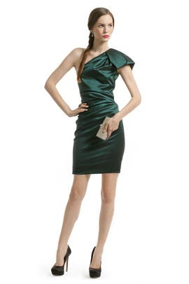 Badgley Mischka - Emerald Gem Ruched Dress