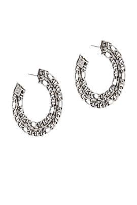 Hawk Hoop Earrings by Dannijo