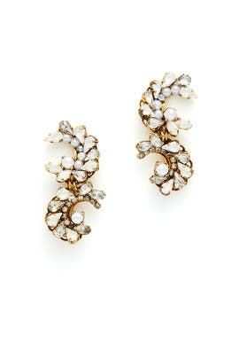 Swan Lake Crystal Earrings by Erickson Beamon