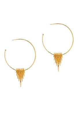 Gold Nora Fan Hoops by Gorjana Accessories