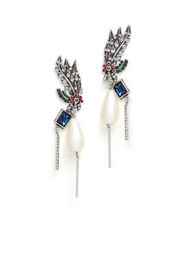 Peacock Tail Earrings by Gerard Yosca