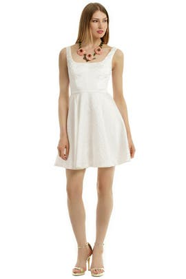 Jill Jill Stuart - White Roses Are Forever Dress