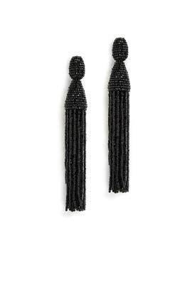 Black Tassel Earrings by Oscar de la Renta