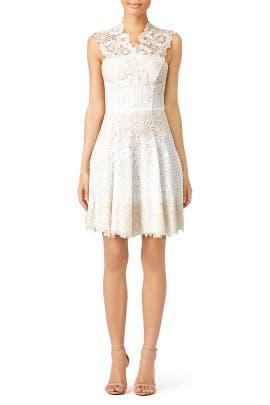 Beige Macrame Dress by Blumarine