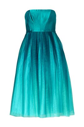 Teal Tea Dress by ML Monique Lhuillier