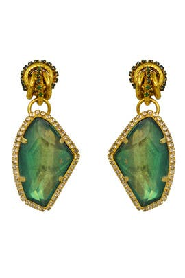 Emerald Garden Party Earring by Erickson Beamon