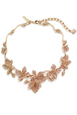 Gold Gradient Crystal Flower Necklace by Oscar de la Renta