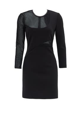 Black Ponte Shift Dress by Rebecca Minkoff