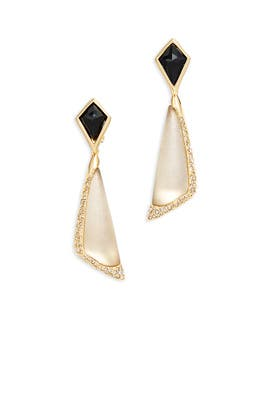 Encrusted Pave Earrings by Alexis Bittar