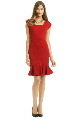 ZAC Zac Posen Red Snapper Dress