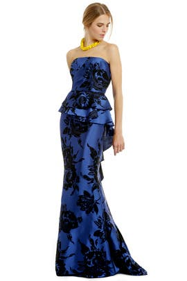 Badgley Mischka - Stamped With Flowers Gown