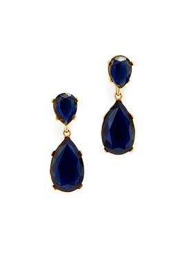 Deep Blue Drop Earrings by Kenneth Jay Lane