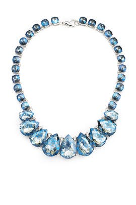 Blue Teardrop Necklace by Slate & Willow Accessories