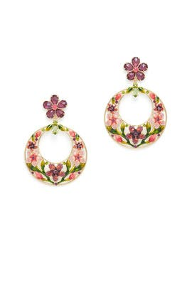 Berry Floral Hoops by kate spade new york accessories