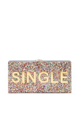 Single or Taken Clutch by Milly Handbags