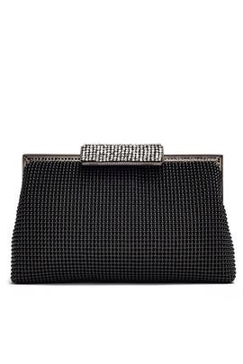 Black Mesh Clutch by Whiting & Davis