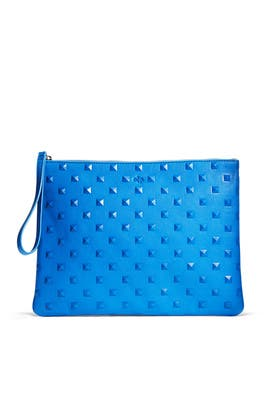 Cobalt Editor Pouch by ela Handbags