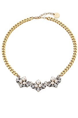 Triple Crystal Cluster Necklace by Anton Heunis