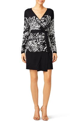Graphic Leandra Wrap Dress by Diane von Furstenberg