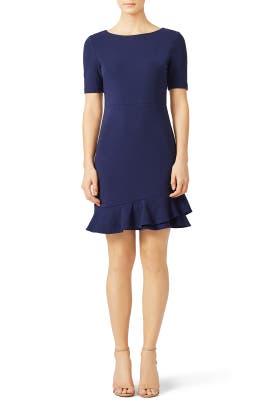 Navy Serafina Dress by Diane von Furstenberg