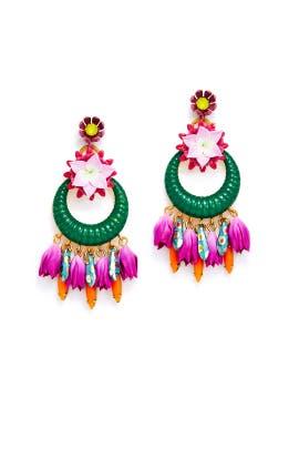 Pink Abbott Earrings by Elizabeth Cole
