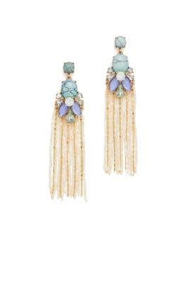 Blue Stone Tassel Earrings by Slate & Willow Accessories