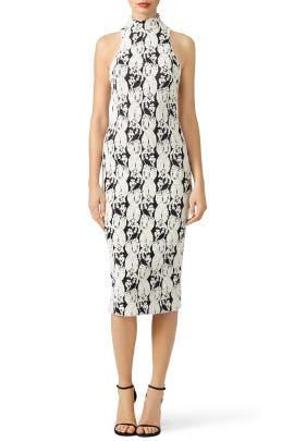 Black and White Lotus Dress
