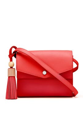 Red Eloise Field Bag by Elizabeth and James Accessories