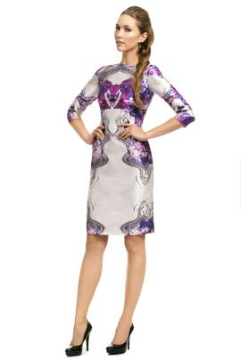 Prabal Gurung - Purple Psychedelic Floral Sheath