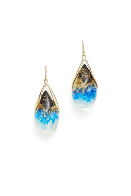 Indigo Suspended Tear Drop Earring by Alexis Bittar