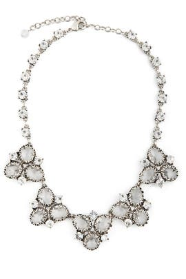 Badgley Mischka Jewelry - Crystal Cluster Necklace