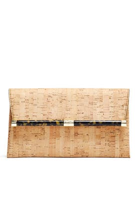 Metallic Cork Envelope Clutch by Diane von Furstenberg Handbags
