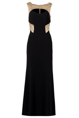 Theia - Graphic Gold Gown