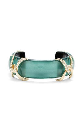 Metallic Teal Cuff by Alexis Bittar