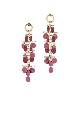 Red Paillette Mobile Earrings by Eddie Borgo