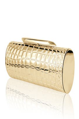 Bailey Gold Crocodile Minaudiere by Kotur