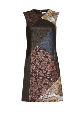 Patchwork Dress by Nicole Miller