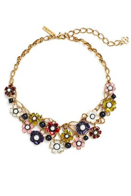 Floral Pearl Multicolor Necklace by Oscar de la Renta