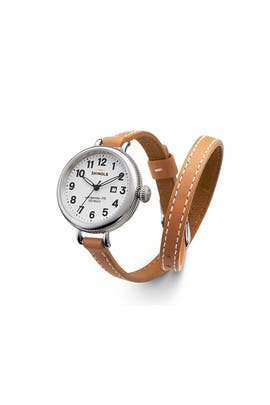 Tan Birdy Watch by Shinola