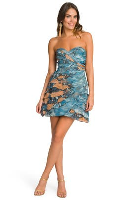 Tracy Reese - Smokey Floral Ruffle Dress