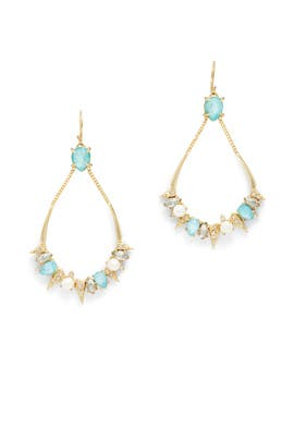 Blue Crystal Futurist Earrings by Alexis Bittar