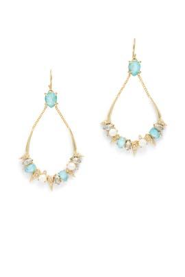 Blue Crystal Futurist Earrings by Alexis Bittar