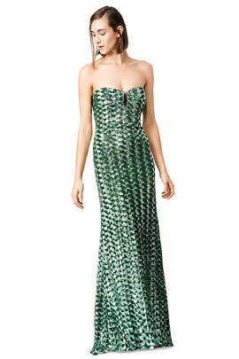 Badgley Mischka - Emerald Rush Gown