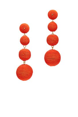 Coral Wrap Drop Earrings by Kenneth Jay Lane