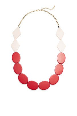 Red Panton Necklace by Area Stars