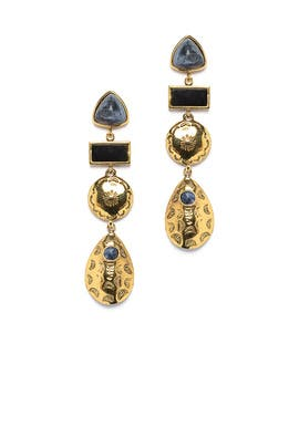 Concho Column Earrings by Lizzie Fortunato