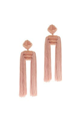 Pink Tassel Dupio Earrings by Sachin & Babi Accessories