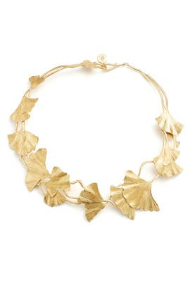 Ginko Leaf Necklace by Tory Burch Accessories