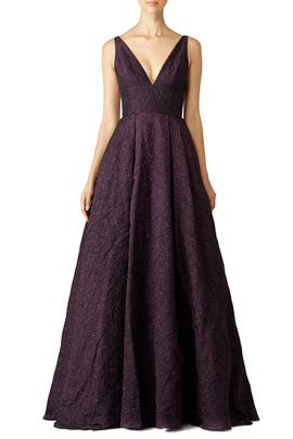 Burgundy Center Stage Gown
