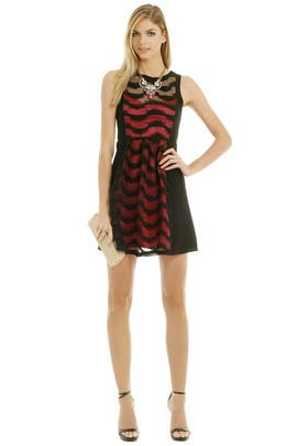 Tracy Reese - Fuschia Combo Frock Dress